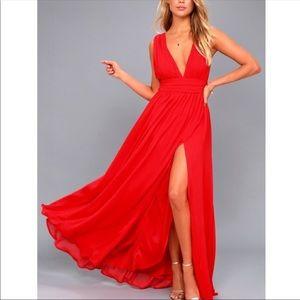 Heavenly Hues Maxi Dress- Red NWOT